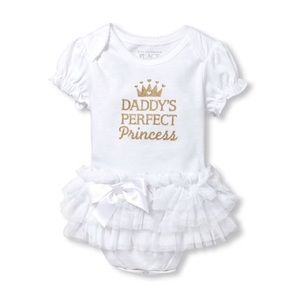 👑 Daddy's Perfect Princess Tutu Graphic Bodysuit